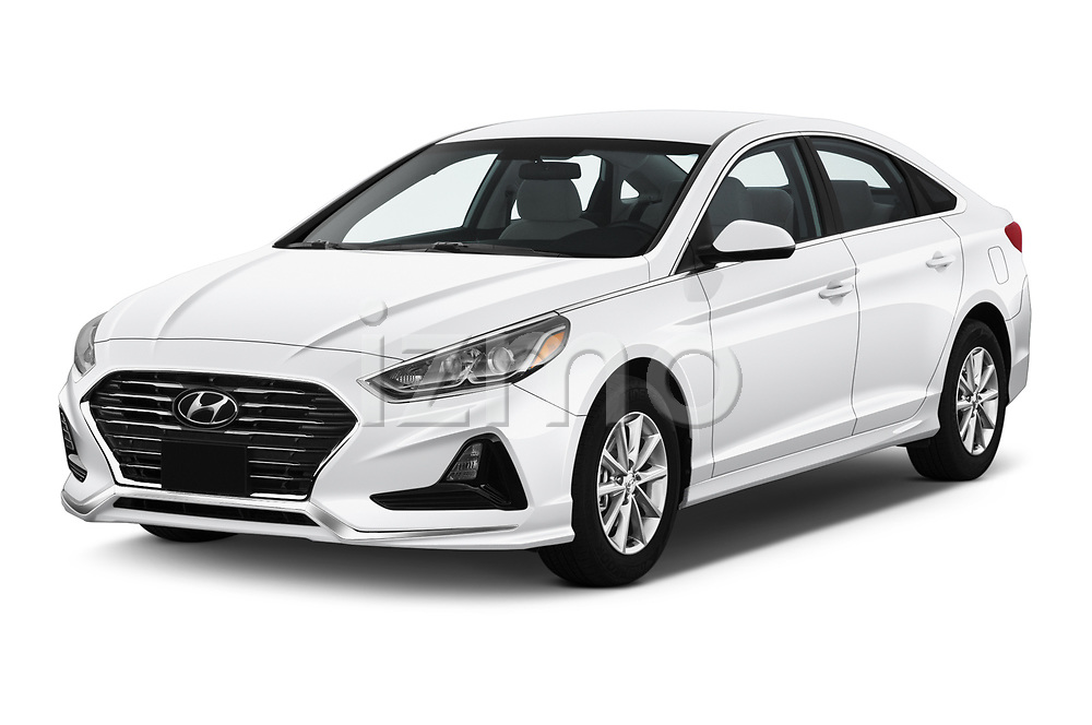 2019 Hyundai Sonata SE 4 Door Sedan Angular Front automotive stock photos of front three quarter view