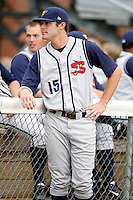 July 30, 2009:  David Rubinstein of the State College Spikes during a game at Russell Diethrick Park in Jamestown, NY.  State College is the NY-Penn League Short-Season Class-A affiliate of the Pittsburgh Pirates.  Photo By Mike Janes/Four Seam Images