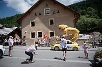 publicity caravan coming up the Col de l'Izoard (HC/2354m/14.2km@7%)<br /> <br /> Stage 18: Embrun to Valloire(208km)<br /> 106th Tour de France 2019 (2.UWT)<br /> <br /> ©kramon