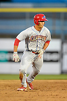 Clearwater Threshers designated hitter Harold Martinez #11 during a game against the Dunedin Blue Jays at Florida Auto Exchange Stadium on April 4, 2013 in Dunedin, Florida.  Dunedin defeated Clearwater 4-2.  (Mike Janes/Four Seam Images)