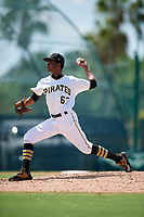 GCL Pirates pitcher Starlyn Reynoso (67) during a Gulf Coast League game against the GCL Twins on August 6, 2019 at Pirate City in Bradenton, Florida.  GCL Twins defeated the GCL Pirates 4-2 in the first game of a doubleheader.  (Mike Janes/Four Seam Images)