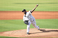New York Yankees starting pitcher CC Sabathia (52) delivers a pitch while on rehab assignment with the Tampa Yankees during a game against the Dunedin Blue Jays on June 28, 2014 at George M. Steinbrenner Field in Tampa, Florida.  Tampa defeated Dunedin 5-2.  (Mike Janes/Four Seam Images)