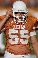 30 September 2006: Texas offensive guard Cedric Dockery warms up prior to the Longhorns 56-3 victory over the Sam Houston State Bearkats at Darrell K Royal Memorial Stadium in Austin, TX.
