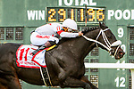 SEPT 25, 2021: Hollywood Talent,#11, ridden by Ricardo Santana, Jr., wins the Gr.3  Greenwood Cup Stakes, going 1 1/2 miles, at Parx Racing, Bensalem, PA. Sue Kawczynski/Eclipse Sportswire/CSM