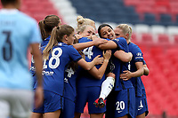 29th August 2020; Wembley Stadium, London, England; Community Shield Womens Final, Chelsea versus Manchester City; Millie Bright  of Chelsea Women celebrates with Sam Kerr as she scores for 0-1