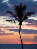 Sunset at Hapuna Beach State Park, Big Island.