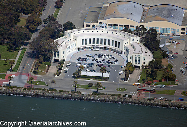 aerial photograph of the Treasure Island Administrative Building, Building 1, San Francisco, California