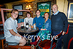 Enjoying the evening in Sean Og's on Friday, l to r: Hugh, Robert and Harry Emerson, Theresa Richardson and George Emerson from Tralee.