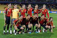 Spain Starting Eleven. Spain defeated New Zealand 5-0 during the FIFA Conferderations Cups at Royal Bafokeng Stadium, in Rustenburg South Africa on June 14, 2009.