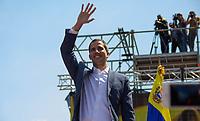 CARACAS - VENEZUELA, 02-02-2019:  Juan Guaido, se dirige a miles de Venezolanos que participan hoy, 2 de febrero de 2019, en Caracas en una marcha en apoyo al jefe del Parlamento y autoproclamado presidente encargado de Venezuela, Juan Guaidó. / Juan Guaido speech to the thousands of Venezuelans that participate today, February 2, 2019, in Caracas in a parade in support of the head of Parliament and self-proclaimed president in charge of Venezuela, Juan Guaidó. Photo: VizzorImage / Carolain Caraballo / Cont