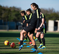 San Antonio, TX - December 8, 2015:  The USWNT trained in preparation for the USWNT Victory Tour.