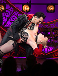 """Robyn Hurder and Ricky Rojas during the Broadway Opening Night performance Curtain Call bows for """"Moulin Rouge! The Musical"""" at the Al Hirschfeld Theatre on July 25, 2019 in New York City."""