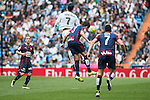 Real Madrid's Cristiano Ronaldo and Sociedad Deportiva Eibar's Saul Berjon, Aleksandar Pantic and Ander Capa during La Liga match. April 09, 2016. (ALTERPHOTOS/Borja B.Hojas)
