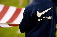 Nike soccer sweattop with flag.USA vs Honduras, Saturday Jan. 23, 2010 at the Home Depot Center in Carson, California. Honduras 3, USA 1.