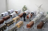 MEDELLIN-COLOMBIA- 2-12-2016. Las víctimas del equipo Chapecoense fueron transladas de la funeraria San Vicente a sus paises de origen . Photo:VizzorImage / León Monsalve / Contribuidor