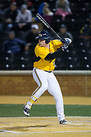 Patrick Ferguson (38) of the Kent State Golden Flashes at bat against the Wake Forest Demon Deacons in game two of a double-header at David F. Couch Ballpark on March 4, 2017 in  Winston-Salem, North Carolina.  The Demon Deacons defeated the Golden Flashes 5-0.  (Brian Westerholt/Four Seam Images)