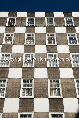 Page Street social housing flats checkerboard design blocks of flats designed by Sir Edwin Lutyens part of the Grosvenor Estate owned by the Duke of Westminster 2011
