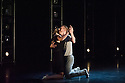 """London, UK. 15.04.2014. HeadSpaceDance present IF PLAY IS PLAY..., a triple bill of new work, in the Linbury Studio, Royal Opera House, London. Picture shows:  Christopher Akrill and Gemma Nixon, in """"Two"""". Photograph © Jane Hobson."""