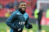 Luciano Narsingh of Swansea City warms up during the Premier League match between Watford and Swansea City at the Vicarage Road, Watford, England, UK. Saturday 30 December 2017