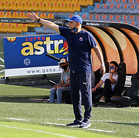 MEDELLIN - COLOMBIA,15-10-2020: Javier Álvarez  director técnico del Independiente Medellín  gesticula durante el partido entre Independiente Medellín  y Jaguares de Córdoba por la fecha 14 de la Liga BetPlay DIMAYOR I 2020 jugado en el estadio Atanasio Girardot  de la ciudad de Medellín. / Javier Alvarez coach of Independente Medellin  gestures during match between Independiente Medellin  and Jaguares de Cordoba for the date 14 BetPlay DIMAYOR League I 2020 played at Atanasio Grardot  stadium in Medellin city. Photos: VizzorImage / Donaldo Zuluaga / Contrbuidor