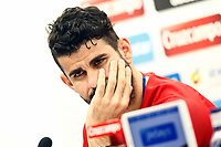 Spain's Diego Costa in press conference before training session. March 23,2017.(ALTERPHOTOS/Acero)