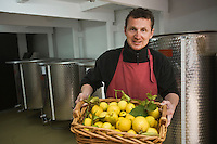 Europe/France/06/Alpes-Maritimes/Menton: Lionel Deremarque, liquoriste - Apéritifs du Soleil - prépare sa liqueur de Menton ( cousine du limoncello)