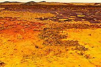 at 116m below sea level is the lowest point on the African continent. Here the landscape is beautiful, the ground many shades of red and yellow from the hot water, acids and minerals spurting up from the ground