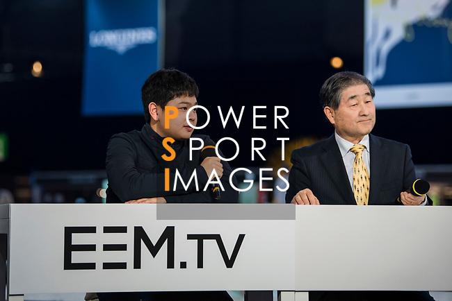 EEM.TV Masters Talks during the Longines Masters of Hong Kong at AsiaWorld-Expo on 10 February 2018, in Hong Kong, Hong Kong. Photo by Zhenbin Zhong / Power Sport Images