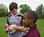 Sam Dickson. Training. Roslyn Park, London, England. Photo: Marc Weakley