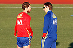 Spain's coach Julen Lopetegui with Sergio Ramos during training session. March 20,2017.(ALTERPHOTOS/Acero)