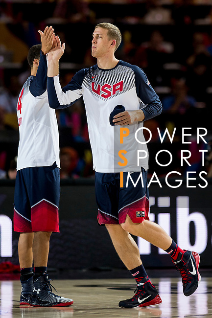 Mason Plumlee of United States of America during FIBA Basketball World Cup 2014 group C between United States of America vs Turkey  on August 31, 2014 at the Bilbao Arena stadium in Bilbao, Spain. Photo by Nacho Cubero / Power Sport Images