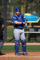 Los Angeles Dodgers Garrett Hope (30) during an instructional league game against the Milwaukee Brewers on October 13, 2015 at Cameblack Ranch in Glendale, Arizona.  (Mike Janes/Four Seam Images)