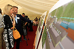 "Visitors inspect the plans the ground breaking for the new $50 Million Slane Distillery on the grounds of Slane Castle.<br /> Picture Fran Caffrey /Newsfile.ie<br /> <br /> BROWN-FORMAN BREAKS GROUND ON<br /> NEW $50 MILLION SLANE DISTILLERY<br /> <br /> US Ambassador joins Conyngham and Brown families for historic occasion<br /> <br /> Distillery and Visitor Centre to be completed late 2016<br /> <br /> The US Ambassador to Ireland, Kevin F. O'Malley, was guest of honour today at the official ground breaking ceremony for the $50 million (approximately €44 million) Slane Distillery on the historic Slane Castle Estate in Co. Meath, home of Henry Conyngham, the eighth Marquess Conyngham, and his son Alex Conyngham, Earl of Mount Charles.<br />  <br /> The distillery, which will also include a Visitor Centre, is being built by leading US Drinks firm Brown-Forman Corporation, the owners of Jack Daniel's, Southern Comfort and Woodford Reserve which bought all shares of Slane Irish Whiskey Company from the Conyngham family earlier this year.  The Conynghams remain centrally involved in the development of the new distillery and the new whiskey brands which will be introduced in early 2017. <br />  <br /> This is the first new distillery Brown-Forman has built outside of the US and represents its entry into distilling Irish whiskey, one of the fastest growing spirits categories over the last few years.  When completed by the end of 2016, Slane Distillery will create nearly 25 new full-time jobs while the construction process will support approximately 80 jobs.  The Slane Distillery and Visitor Centre will be a welcome new attraction to the Boyne Valley tourism trail.<br />  <br /> The US Ambassador signed the first cask that will be filled with whiskey from the distillery and commented on the significance of the occasion, ""There are so many links between Ireland and the great state of Kentucky – people, music, horses and a great tradition of making the finest whiskies.  This is a truly modern linkage – combining the best in creativity and expertise to brin"