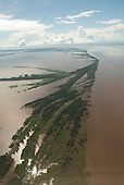 Amazonas, Brazil. Aerial view of flooded archipelago in the Amazon river.