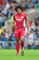Hudson Tonga'uiha of London Welsh during the Aviva Premiership match between London Welsh and Leicester Tigers at the Kassam Stadium on Sunday 2nd September 2012 (Photo by Rob Munro)