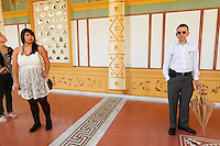 Visitors at the Getty Villa. Los Angeles, CA