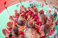 Stanford, Calif - Friday, August 28, 2015: The Stanford Field Hockey team against Syracuse.