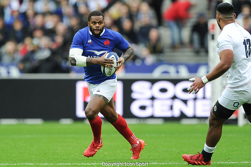 Virimi VAKATAWA of France during the Six Nations match Tournament between France and England at Stade de France on February 2, 2020 in Paris, France. (Photo by Sandra Ruhaut/Icon Sport) - Stade de France - Paris (France)
