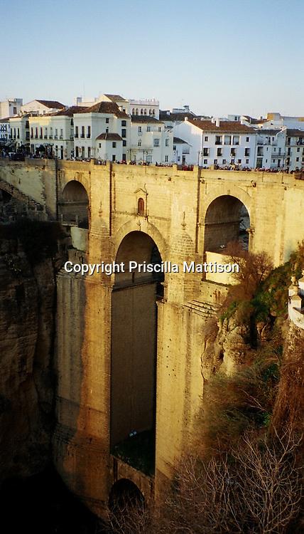 """The Puente Nuevo (""""New Bridge"""") over the El Tajo gorge in Ronda, Spain"""