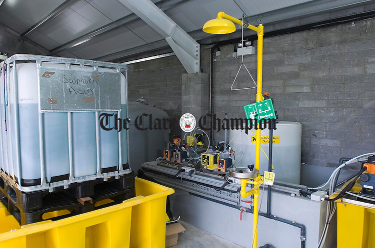 Toonagh/Dysert Group Water Scheme Water Treatment Plant.Pic Arthur Ellis.