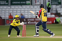 Paul Walter is stumped by Lewis McManus from the bowling of Mason Crane during Essex Eagles vs Hampshire Hawks, Vitality Blast T20 Cricket at The Cloudfm County Ground on 11th June 2021