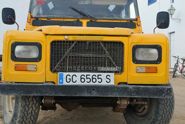 Spain, Canary Islands, Archipielago Chinijo, Isla Graciosa, Caleta del Sebo. Land Rover Santana Series III 109 Cazorla 6-cyl Station Wagon. --- No releases available. Automotive trademarks are the property of the trademark holder, authorization may be needed for some uses.
