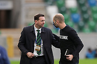 BELFAST, NORTHERN IRELAND - MARCH 28: Northern Ireland head coach Ian Baraclough and USMNT head coach Gregg Berhalter during a game between Northern Ireland and USMNT at Windsor Park on March 28, 2021 in Belfast, Northern Ireland.