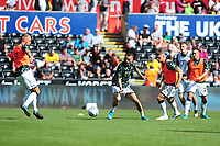 Bersant Celina of Swansea City during the pre-match warm-up for the Sky Bet Championship match between Swansea City and Nottingham Forest at the Liberty Stadium in Swansea, Wales, UK. Saturday 14 September 2019