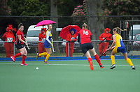 Action from the girls match between Feilding High School and Taradale High School on day three of the 2020 Lower North Island Hockey Premiership tournament at Fitzherbert Park Twin Turfs in Palmerston North, New Zealand on Wednesday, 2 September 2020. Photo: Dave Lintott / lintottphoto.co.nz