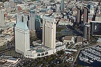 aerial photograph of the Hyatt, San Diego, California