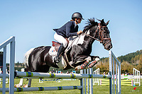NZL-Amelia Munro rides Over Easy. Class 26: Pony 1.05m Ranking Class. 2021 NZL-Easter Jumping Festival presented by McIntosh Global Equestrian and Equestrian Entries. NEC Taupo. Saturday 3 April. Copyright Photo: Libby Law Photography