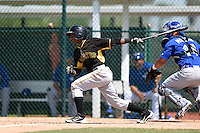 Pittsburgh Pirates Pablo Reyes (45) during a minor league spring training game against the Toronto Blue Jays on March 21, 2015 at Pirate City in Bradenton, Florida.  (Mike Janes/Four Seam Images)