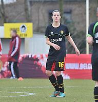 Denmark U17 - Belgium U17 : Laura Baetens.foto DAVID CATRY / Vrouwenteam.be