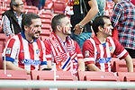 Atletico de Madrid's supporters during La Liga match between Atletico de Madrid and Malaga CF at Wanda Metropolitano in Madrid, Spain September 16, 2017. (ALTERPHOTOS/Borja B.Hojas)